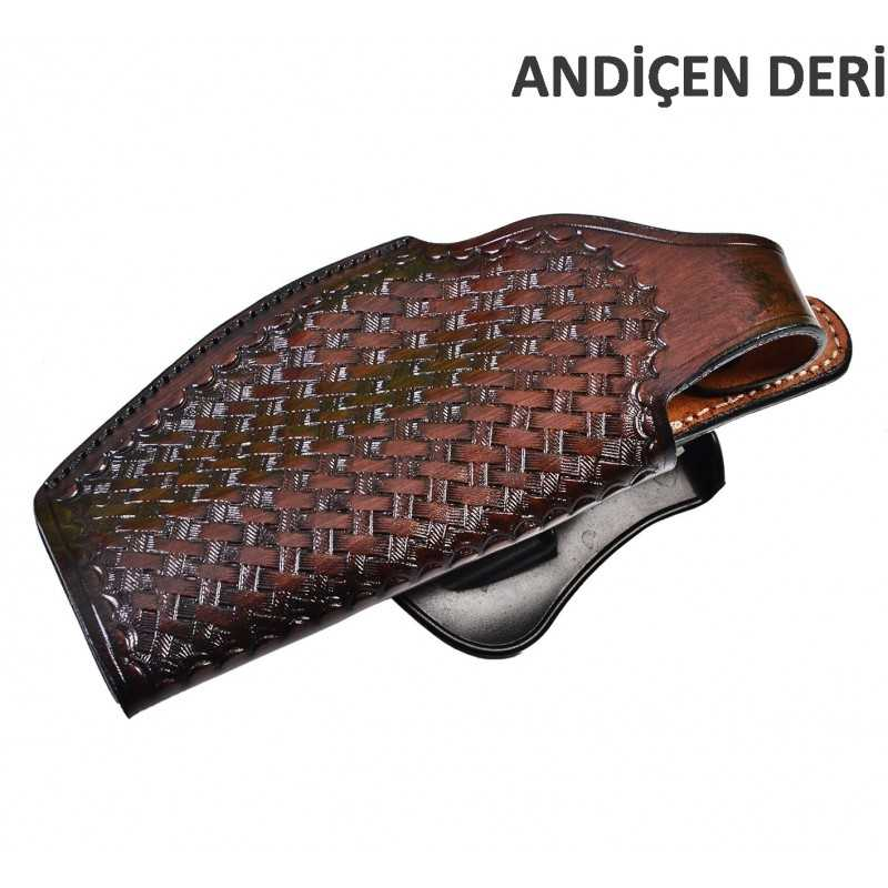 Basket View Paddle Leather Gun Holster Andiçen Deri - 3